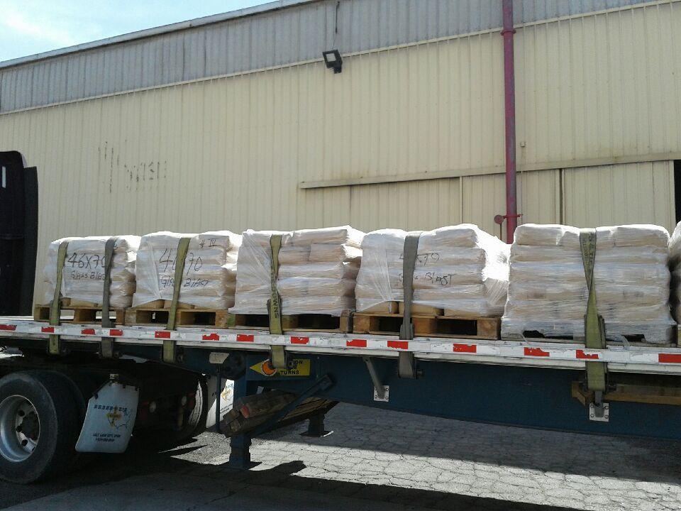 glassblast truckload